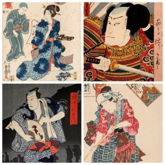 Japanese Woodblock Print - Ukiyo-e, Actors, TOYOKUNI III