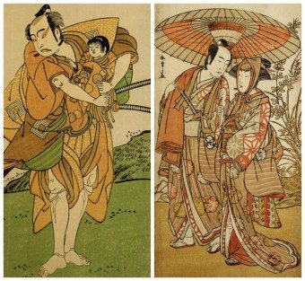 Japanese Woodblock Print - Early Ukiyo-e, Actors, Katsukawa SHUNSHÔ