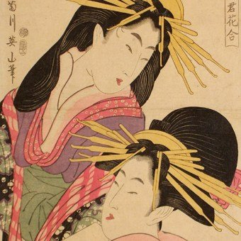 Early Ukiyo-e Woodblock Prints, Shunga Woodblock Prints, Early Ukiyo-e, Shunga, Kikugawa EIZAN