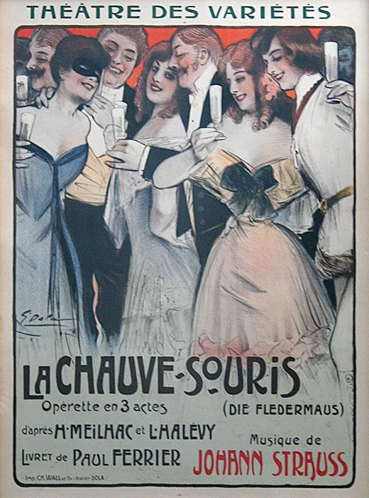 vintage Georges DOLA La Chauve-Souris poster