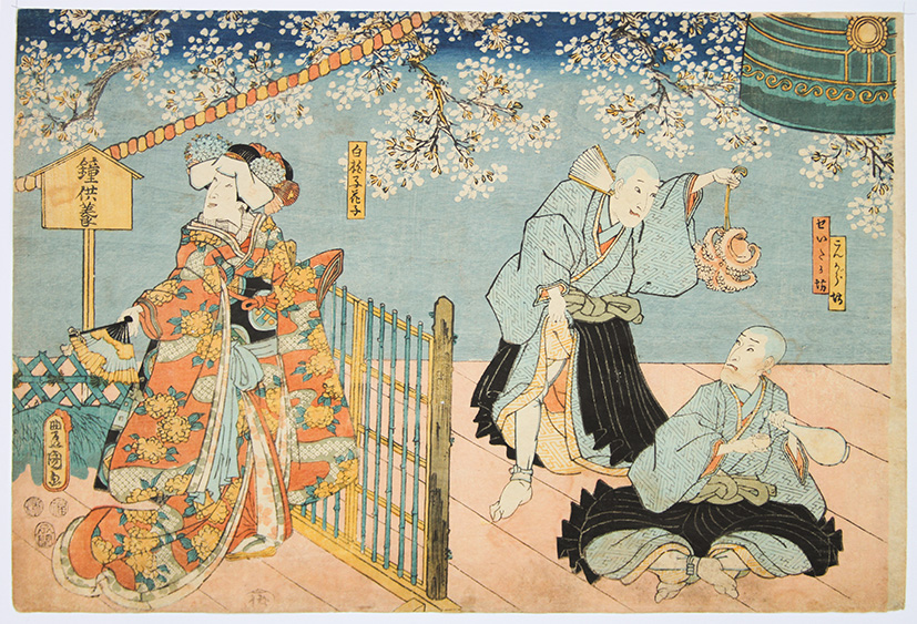 Utagawa KUNISADA, Actors playing Kabuki Play