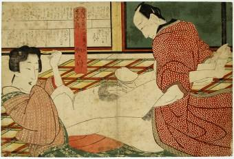 Original Japanese Woodblock Print, Ukiyo-e, Shunga - Artist unknown