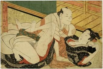 Japanese Woodblock Print - Early Ukiyo-e - Shunga - Artist-unknown