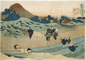 from the series \u201cThirty-six Views of Mount Fuji reproduction of the original woodblock print by Hokusai Japanese art poster 1830-3.