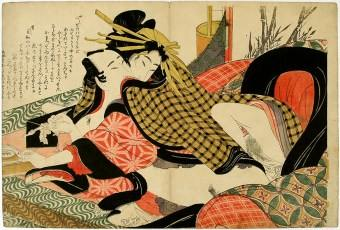 Eizan Shunga original japanese woodblock web