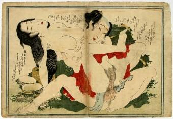 Eizan Shunga, Japanese Woodblock Print, Early Ukiyo-e