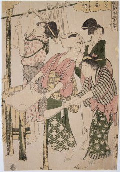 Kitagawa UTAMARO (1753-1806) Joshoku kaiko tewaza-gusa (Women Engaged in the Sericulture Industry)