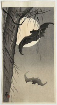 Ohara KOSON Bats against full Moon