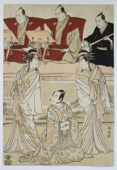 Torii KIYONAGA Actors witch chanters and accompanist