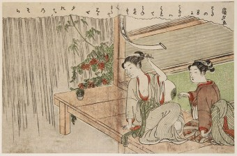 Suzuki HARUNOBU Mine yudachi (Rain Shower at the Mountain Top)
