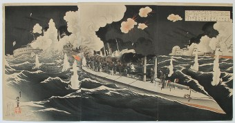 Migita TOSHIHIDE Great Sea Battle between Japan and Russia