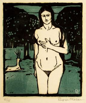 Koller Pinell Eve woodblock print