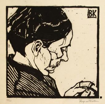 Koller-Pinell Mother woodblock print