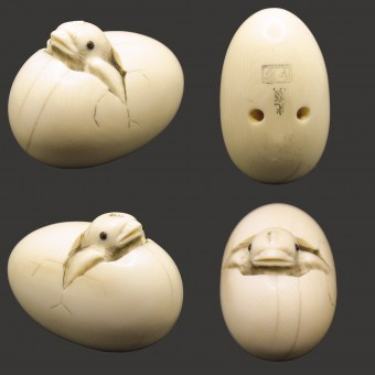 Netsuke - Chick in the Egg