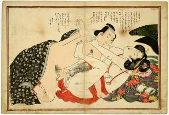 Japanese Woodblock Print - Early Ukiyo-e - Shunga- Artist-unknown